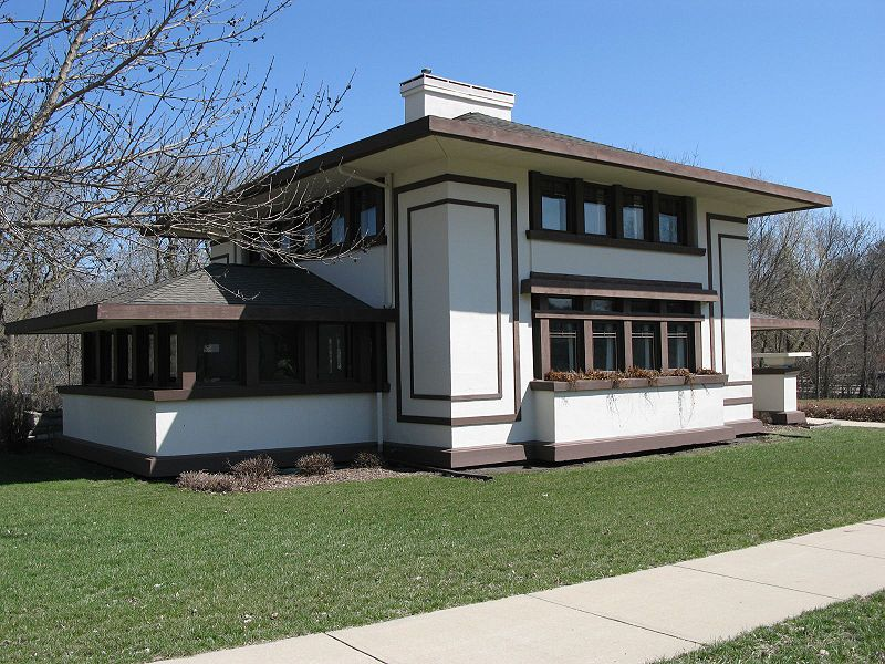 Frank lloyd wright the stockman house mason city for Design homes iowa