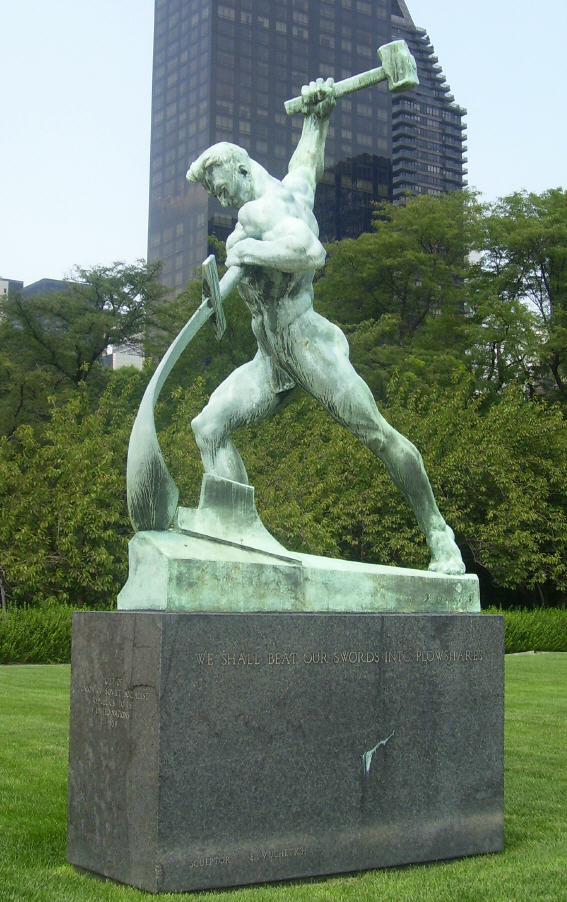 UN-Swords-into-Plowshares-Statue
