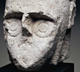 Head of a warrior: one of the Giants of Monte Prama.