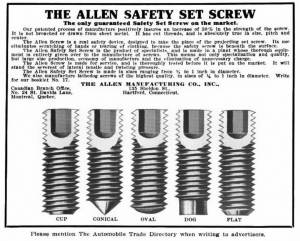 Allen-Safety-Screw-Set