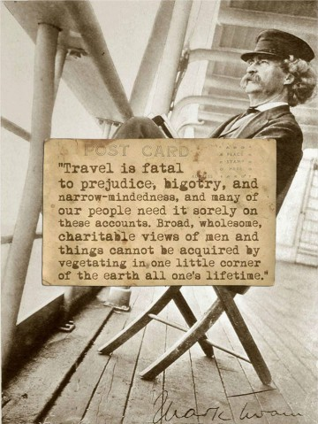 Mark Twain Goes East And West Quintessentialruminations