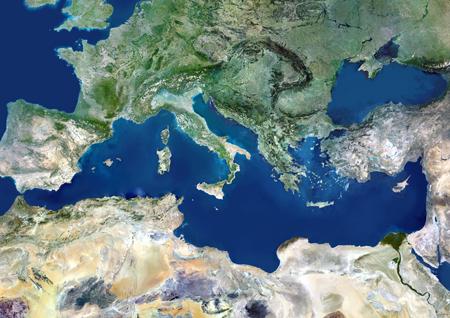 Mediterranean Basin, satellite image