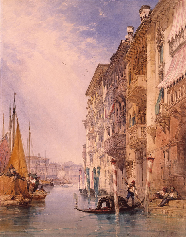 A_Gondola_on_the_Grand_Canal,_Venice)_by_William_Callow,_RWS(2)